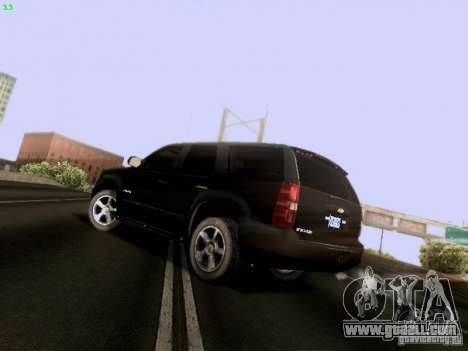 Chevrolet Tahoe 2009 Unmarked for GTA San Andreas back left view