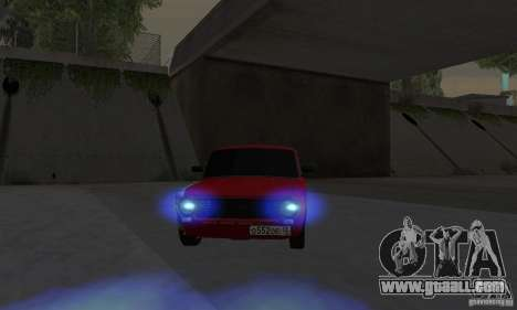 VAZ 2101 Restyling for GTA San Andreas back left view