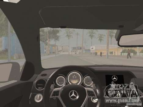 Mercedes-Benz C63 AMG Coupe Black Series for GTA San Andreas upper view