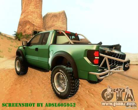 Ford F150 2011 SVT RapTor for GTA San Andreas back view