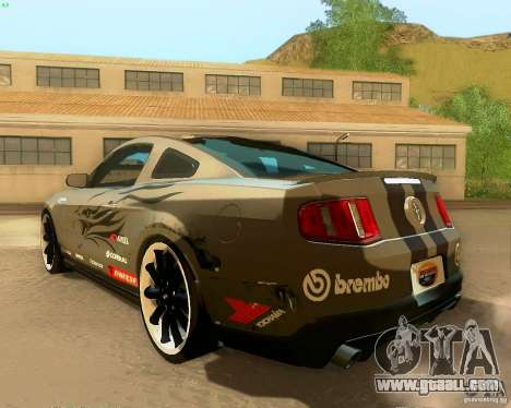 Ford Mustang Boss 302 2011 for GTA San Andreas bottom view
