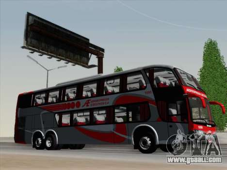 Marcopolo DD800 Volvo B12R for GTA San Andreas interior