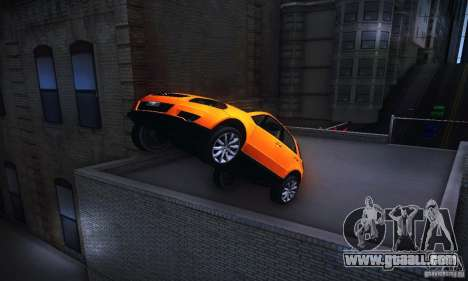 Suzuki SX4 Sportback Black 2011 for GTA San Andreas back view