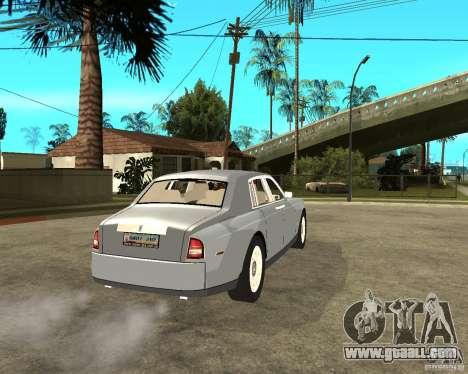 Rolls-Royce Phantom (2003) for GTA San Andreas back left view
