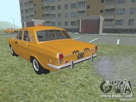 GAZ 24-01 Taxi for GTA San Andreas inner view