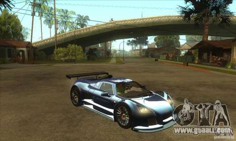 Gumpert Apollo Sport for GTA San Andreas back view