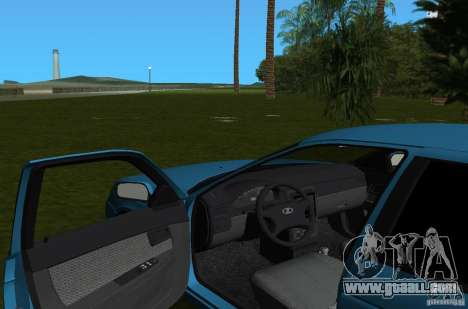 Lada Priora Hatchback v2.0 for GTA Vice City inner view