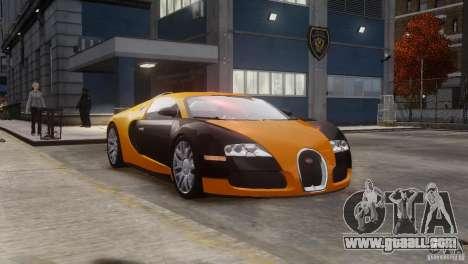 Bugatti Veyron 16.4 for GTA 4 inner view
