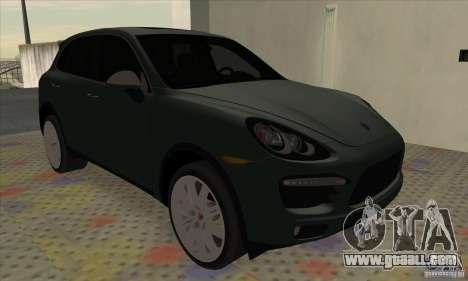Porsche Cayenne Turbo 2012 for GTA San Andreas back left view