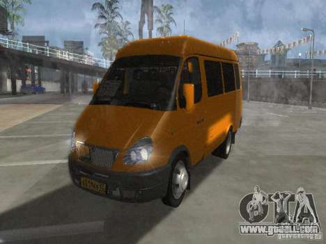 Gazelle 2705 taxi for GTA San Andreas left view