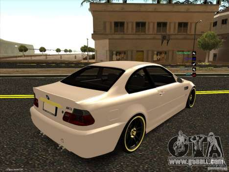 BMW M3 for GTA San Andreas inner view