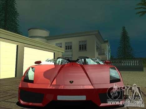 Lamborghini Concept S for GTA San Andreas bottom view