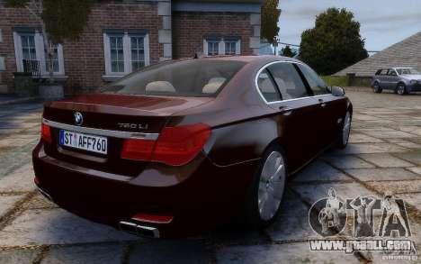 BMW 760Li 2011 for GTA 4 back view