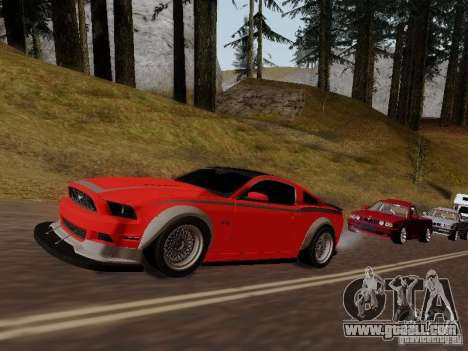 Ford Mustang RTR Spec 3 for GTA San Andreas back view
