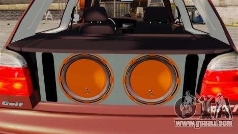 Volkswagen Golf MK3 Turbo for GTA 4 inner view