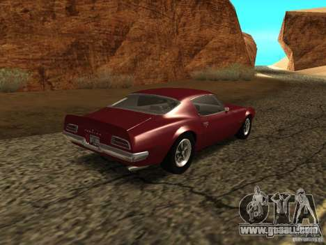 Pontiac Firebird 1970 for GTA San Andreas back left view
