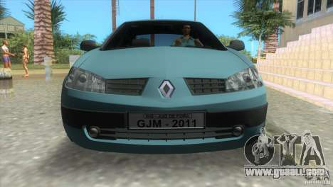 Renault Megane Sedan for GTA Vice City back left view