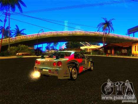 Nissan Skyline R34 Nismo for GTA San Andreas left view