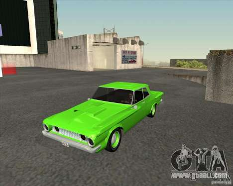 Plymouth Savoy 1962 for GTA San Andreas back view