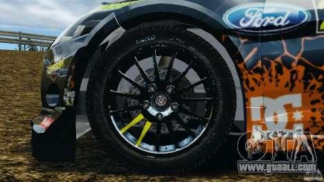 Ford Fiesta RS WRC Gymkhana v1.0 for GTA 4 back view