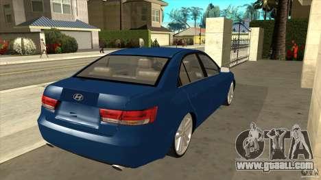 Hyundai Sonata NF for GTA San Andreas right view