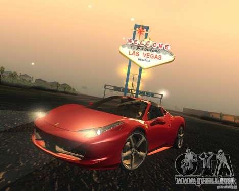 Ferrari 458 Italia Convertible for GTA San Andreas