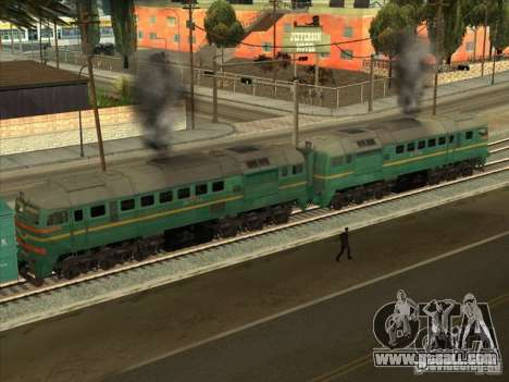 Freight locomotive Baltic States railway picture for GTA San Andreas back left view
