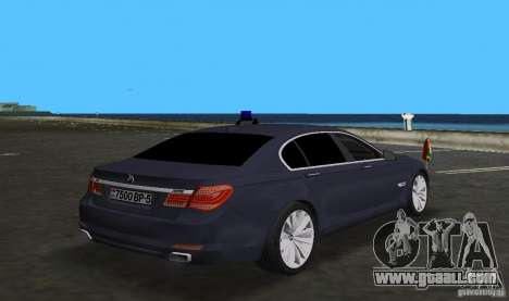 BMW 750 Li for GTA Vice City back view