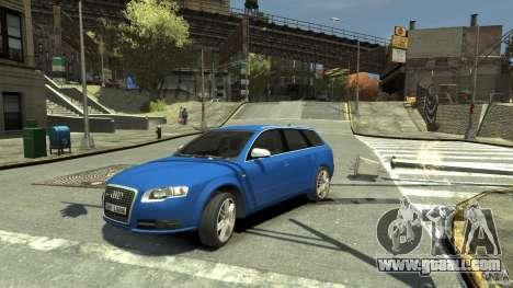 Audi S4 Avant for GTA 4 back view