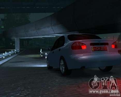 Daewoo Lanos for GTA 4 back left view