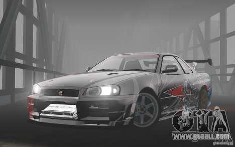 Nissan Skyline R34 Evil Empire for GTA 4