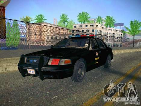 Ford Crown Victoria Police Intercopter for GTA San Andreas back view