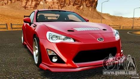 Subaru BRZ 2013 for GTA 4