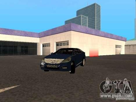 Hyundai Azera 2012 for GTA San Andreas