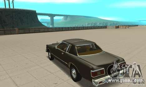 Chrysler Le Baron 1978 for GTA San Andreas back left view