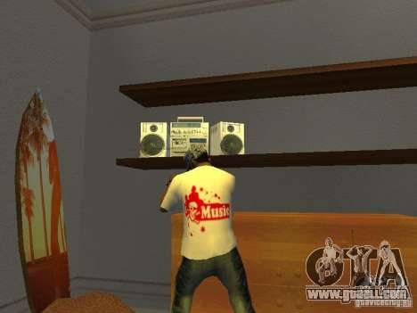 Tectonic T-shirt for GTA San Andreas second screenshot