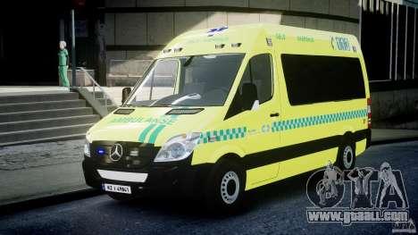Mercedes-Benz Sprinter PK731 Ambulance [ELS] for GTA 4