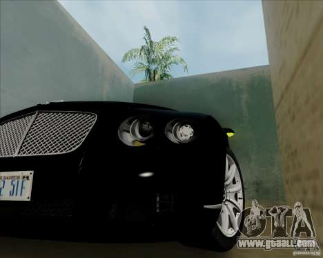 Bentley Continental GT V1.0 for GTA San Andreas back view