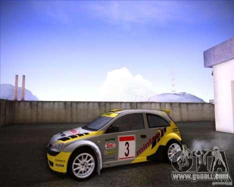 Opel Corsa Super 1600 for GTA San Andreas right view