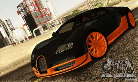Bugatti Veyron SuperSport for GTA San Andreas left view