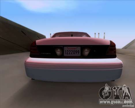 Ford Crown Victoria 2009 Detective for GTA San Andreas inner view