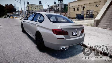 BMW M5 F10 2012 for GTA 4 back left view