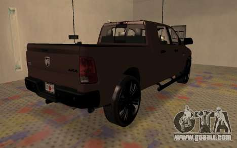 Dodge Ram 3500 for GTA San Andreas back left view