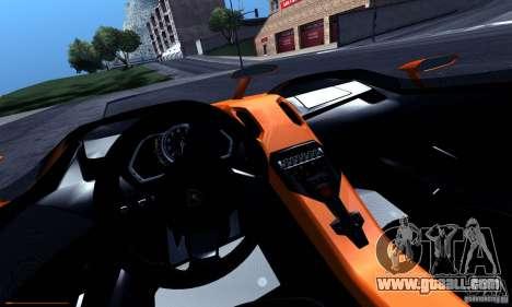 Lamborghini Aventador J for GTA San Andreas upper view