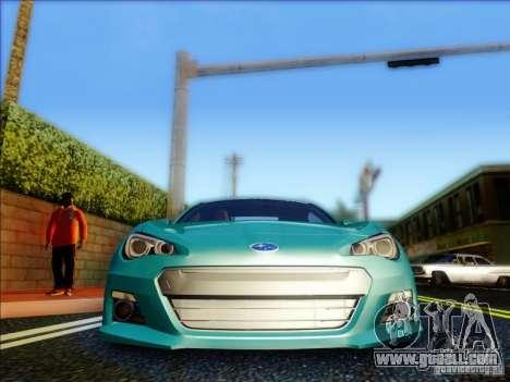 Subaru BRZ S 2012 for GTA San Andreas inner view