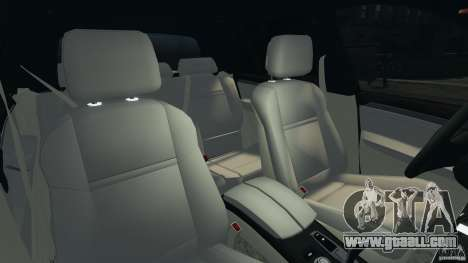 BMW X5 xDrive35d for GTA 4 inner view