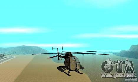 AH-6C Little Bird for GTA San Andreas back view