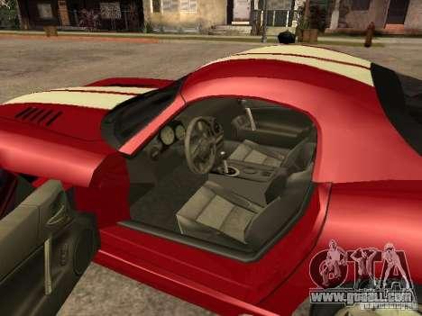 Dodge Viper for GTA San Andreas back left view