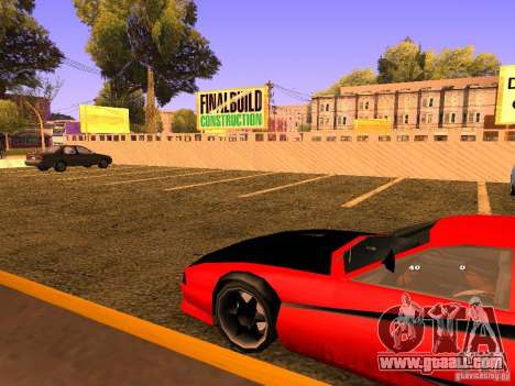 New Cheetah for GTA San Andreas back view