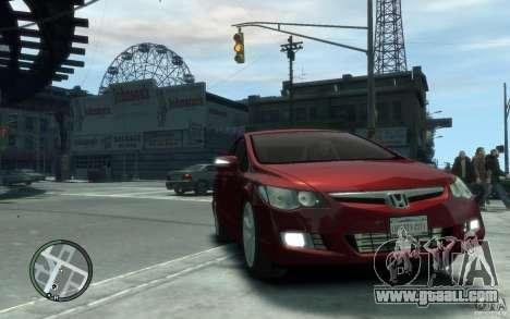 Honda Civic 2006 for GTA 4 back view